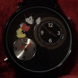 Mickey Mouse large faced watch, dual clocks